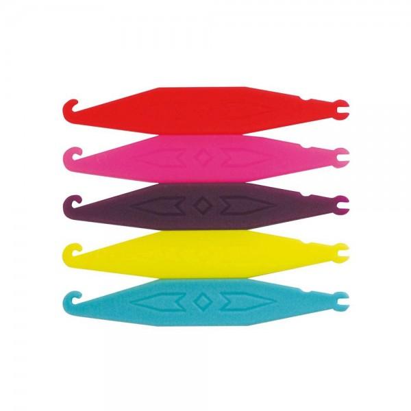 Einhängehilfen neon-farben gemischt (Inhalt: 100 Stück)