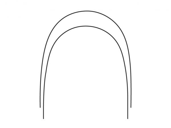 Edelstahl-Bögen Natural Form (Inhalt: 10 Bögen)