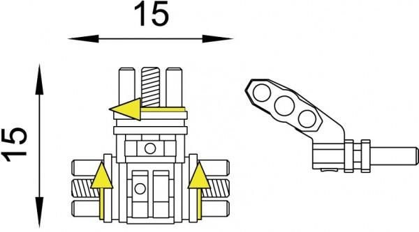 Mehrsektorenschraube nach Bertoni 2fach einstellbar (Inhalt: 1 Stück)