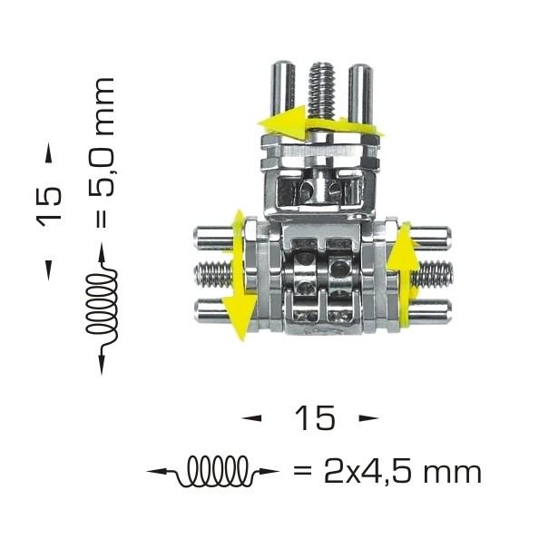 Mehrsektorenschraube nach Bertoni 3fach einstellbar (Inhalt: 1 Stück)