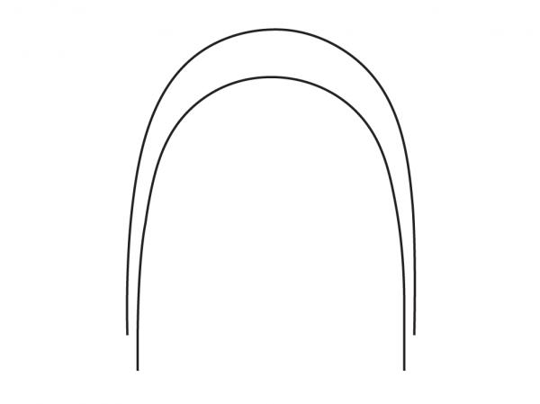 NiTi-Bögen Natural Form (Inhalt: 10 Bögen)